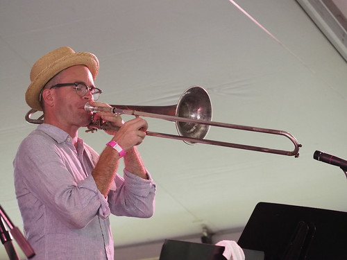 Charlie Halloran performs with Tim Laughlin at Satchmo SummerFest - Aug. 3, 2018. Photo by Michele Goldfarb.