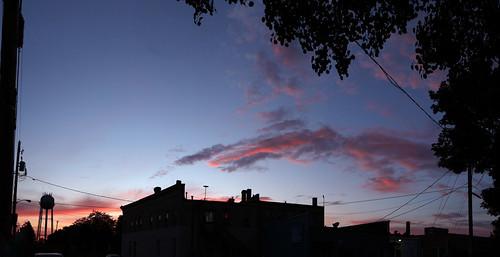 sunset milton wisconsin canon 7d markii clouds watertower panorama