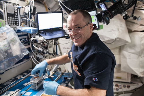 NASA astronaut Ricky Arnold processes microbial DNA | by NASA Johnson