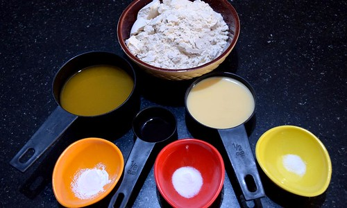 Ingredients for Orange Cranberry Muffins