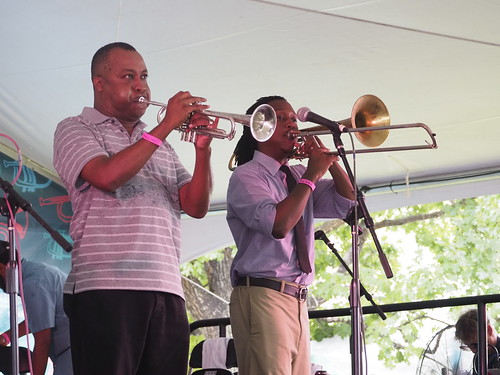 Jamil Sharif at Satchmo SummerFest - Aug. 3, 2018. Photo by Michele Goldfarb.
