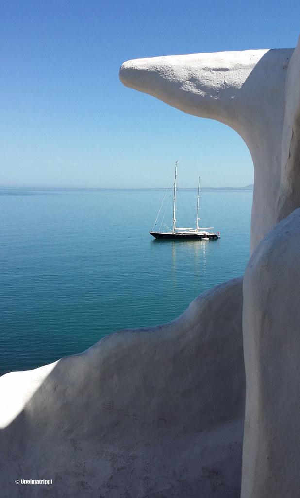Näkymä Casapueblosta merelle