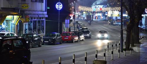 holiday holidays city street cars car lights night photo photography camera nikon d3200 srbija serbia serbien laserbie