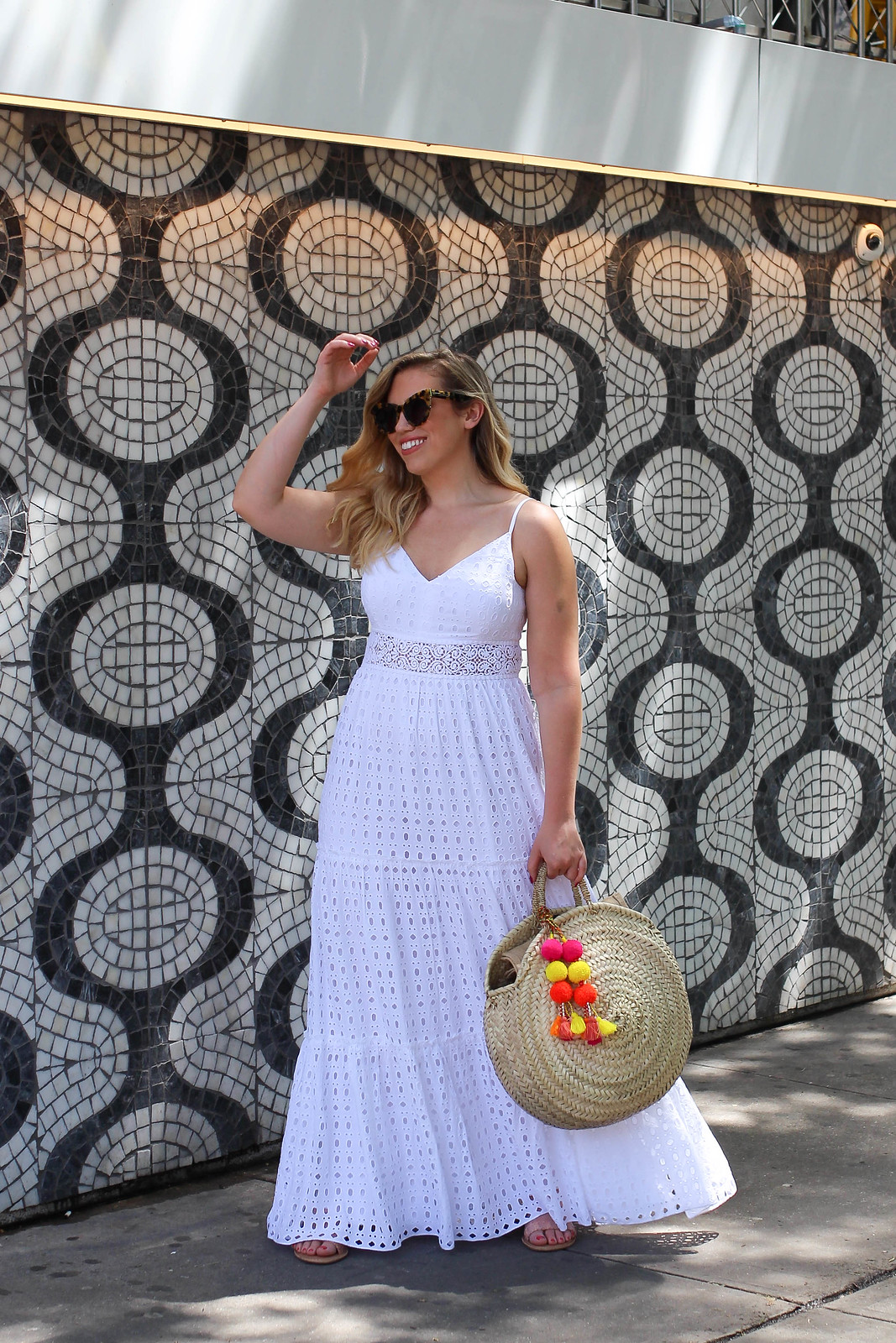 Lily Pulitzer White Eyelet Maxi Dress | The Best Little White Dresses Under $50 for Summer | Summer Outfit Ideas | LWD Little White Dress | Casual Outfit Inspiration
