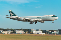 Cathay Pacific Cargo Boeing 747-8F Landing at Amsterdam Schiphol B-LJG