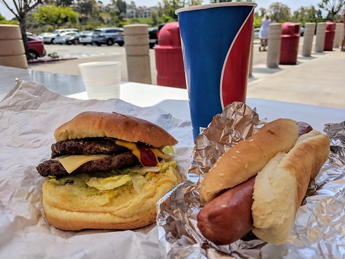 Costco burger and dog | by DarleneEats