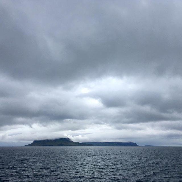 The isle of Eigg starboard #smallisles #scotland #homewardbound #viewsfromtheship #eigg #nofilter #cloudsareawesome