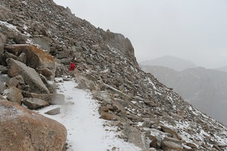 1699 The trail is deep in hailstones as we head down to Trail Crest on the John Muir Trail | by _JFR_