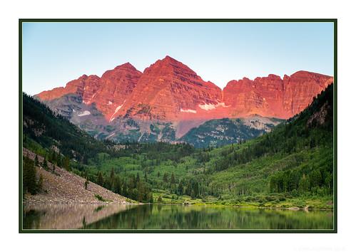 aspen colorado maroonbells sunrise