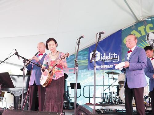 Yoshio Toyama & the Dixie Saints at Satchmo SummerFest - Aug. 4, 2018. Photo by Michele Goldfarb.