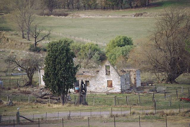 ruined farmhouse at Fairlight, NSW, Australia