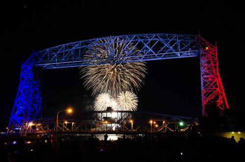Duluth Trip - July 2018 - Lift Bridge on the 5th of July