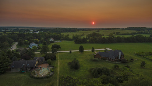 marengoillinois marengo evo autelevo sunset aerial illinois