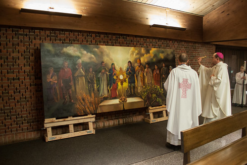 All Saints Academy unveils painting of saints adoring the Eucharist