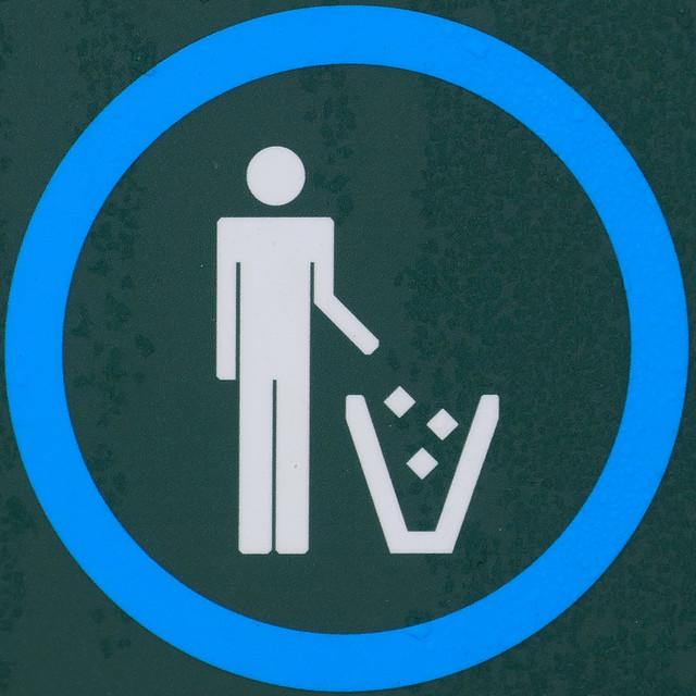 Use litter bins provided