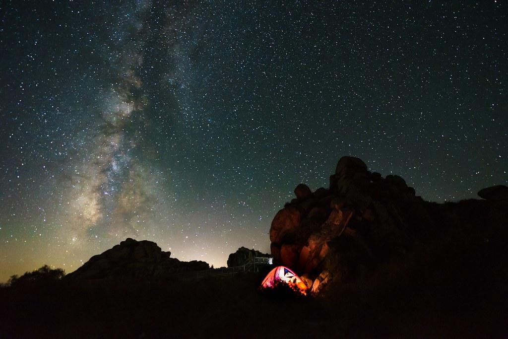 河北赤城 冰山梁 银河
