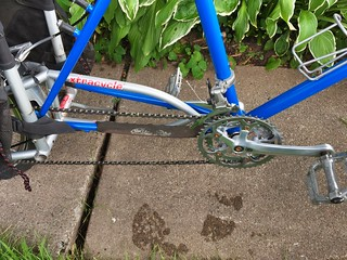 Blue Truck/Xtracycle received a much needed overhaul and freshly painted Snapdeck.   by anon biker