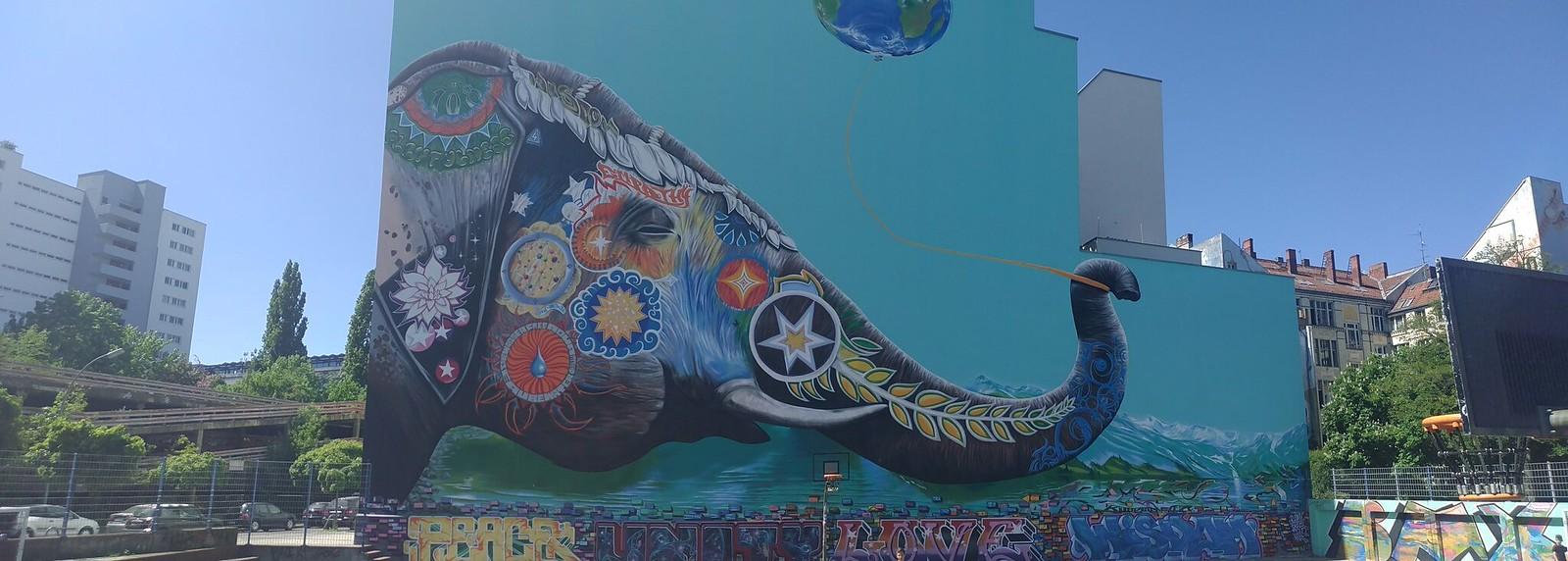 Mural Elefant