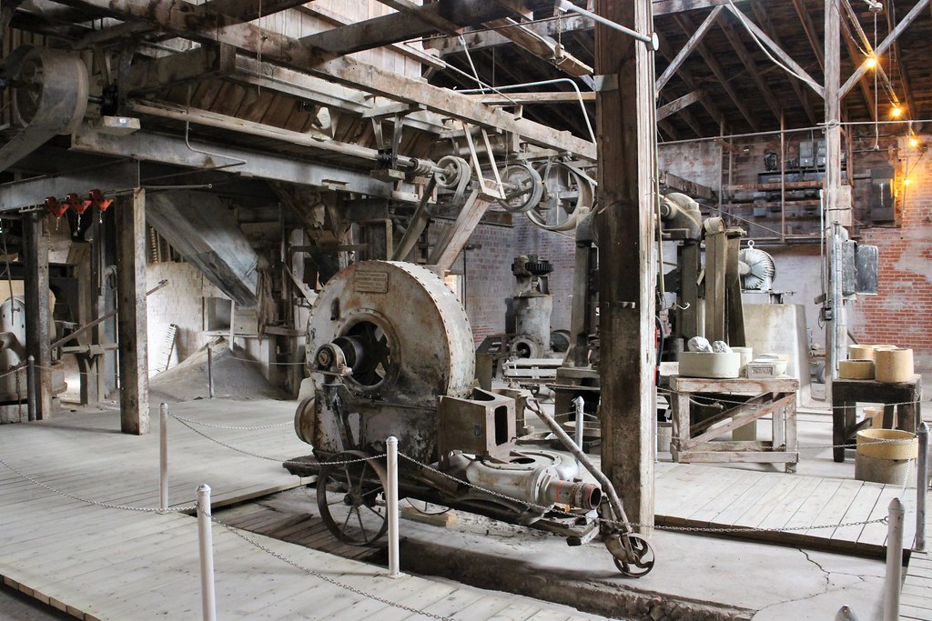 Machinery at Old Factory, Medalta in the Historic Clay Dis