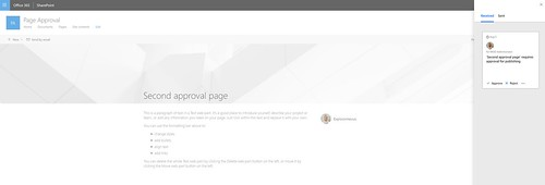 SharePoint Page Approvals - Requests side panel | by expiscornovus_img