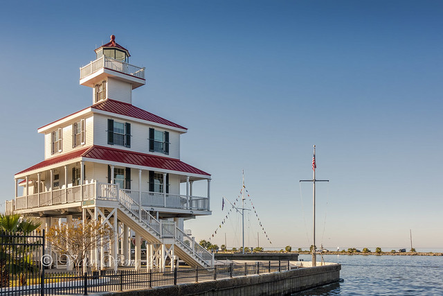 New Canal Lighthouse and Lake Pontchartrain