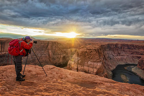 horseshoebend arizona sunset wilbur river cliff canyon