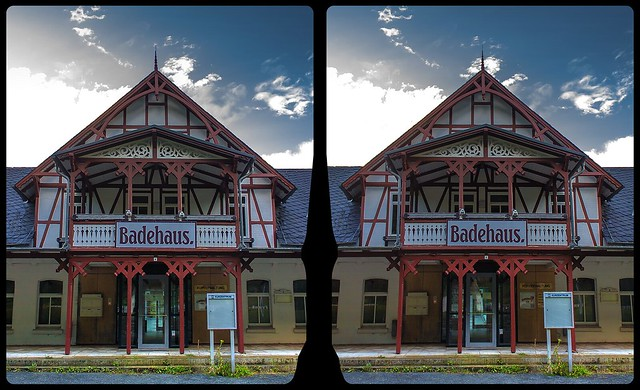 Badehaus, Bad Suderode 3-D / CrossView / Stereoscopy / HDRaw