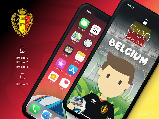 Team Belgium iPhone Wallpaper