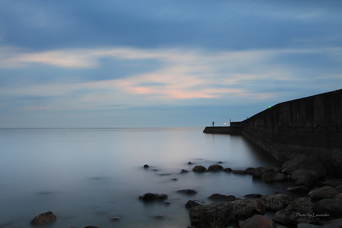 夕陽 六塊厝 屯山 淡水 新北市 台灣 taiwan sunset bluehour
