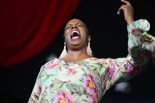 Dianne Reeves on Day 6 of Jazz Fest - May 5, 2018. Photo by Leon Morris.