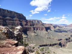 Grand Canyon - South Kaibab Trail, heading to Skeleton Point, looking west (2)