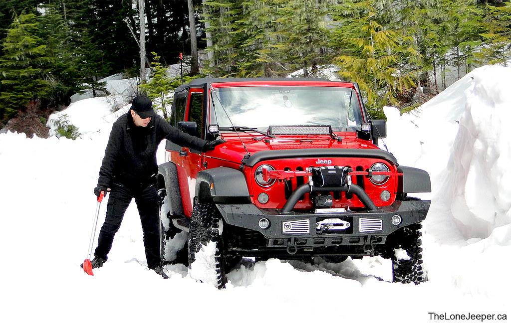 Jeep In Snow >> Red Jeep Wrangler Jk 2 Doors Snow Jeep Jk 2door In The Sno