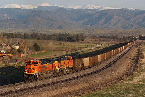 bnsf bnsf9109 emd sd70ace castlerock colorado orsa jointline rockymontains train railroad