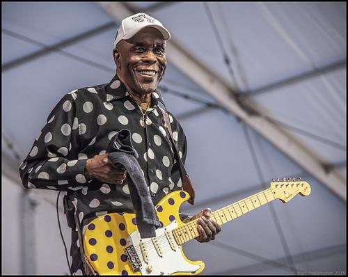 Buddy Guy on Day 7 of Jazz Fest - May 6, 2018. Photo by Marc PoKempner.