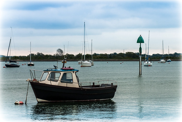 boat in Emsworth Harbour