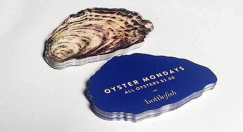 Oyster Shaped Die Cut Business Cards | by oubly