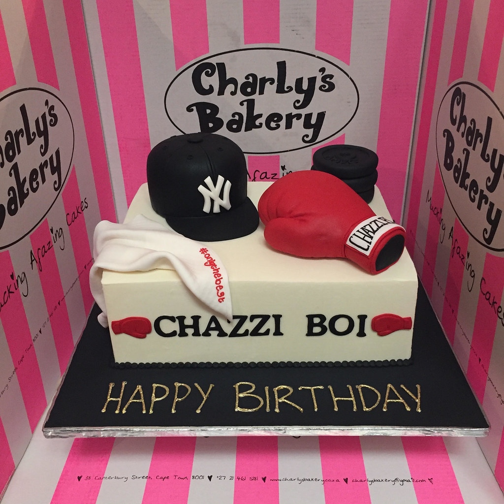 Swell Rectangular Cake With 3D Ny Cap 3D Boxing Glove 3D Weights Funny Birthday Cards Online Hendilapandamsfinfo