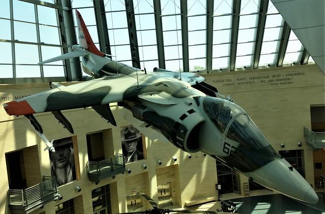 AV-8B Harrier 161396/SD-623 NAWC USMC c/s. Preserved, Quantico/ Triangle, National U.S.Marines Museum. 08-05-2018.