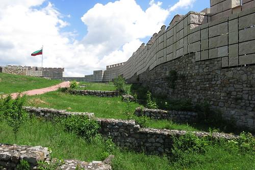 bulgaria българия pernik перник fortress medieval wall remains stone contrast
