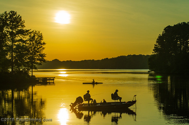 20110719 Early morning on the lake - Swift Creek Reservoir, Midlothian, VA - by Paul DIming