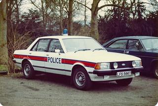 Ford Granada 2.8i LFS 566T, 'ZH FT66', L&B Traffic Dept Livingston. Scottish Police College,Traffic Division. 1980 | by landshark2084