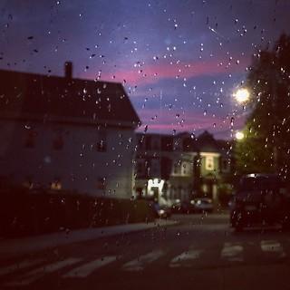Somerville side-street in the rain #sunset #bluehour #dusk #evening