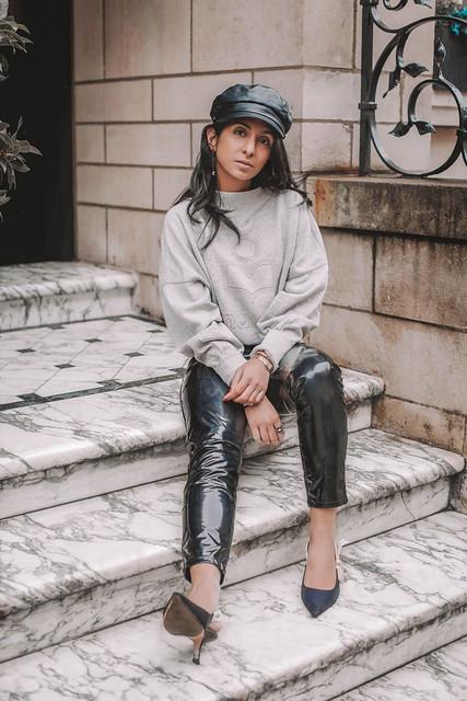 Shloka Narang in vinyl pants
