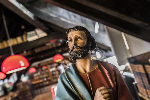 El santo en plano aberrrante o holandés (cómo me gusta)