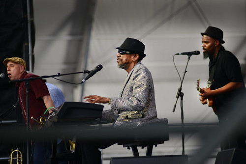 Henry Butler on Day 3 of Jazz Fest - April 29, 2018. Photo by Leon Morris.