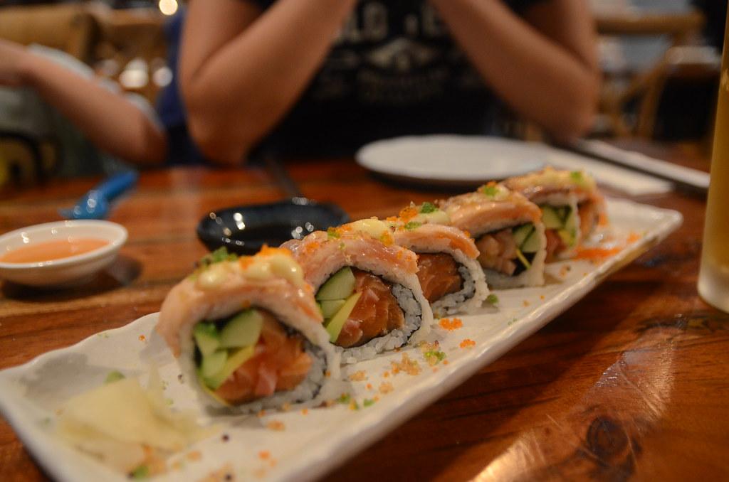 Crazy salmon roll AUD13.50 - Tokyo Kitchen Sakae, Brighton