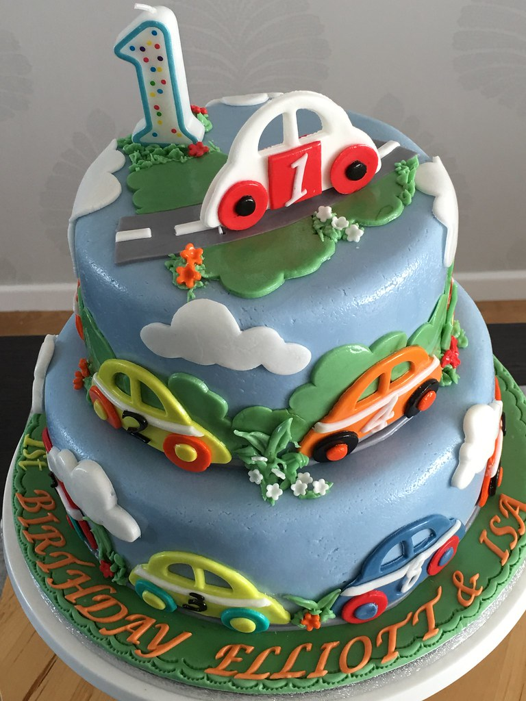 1st Birthday Cake Boy.Baby Boy First Birthday Cake Nursery Cars Spring
