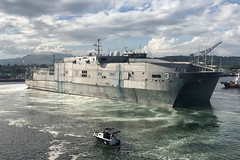 In this file photo, USNS Millinocket (T-EPF 3) arrives in Subic Bay, Philippines, in November. (U.S. Navy/Capt. Todd Kutkiewicz)