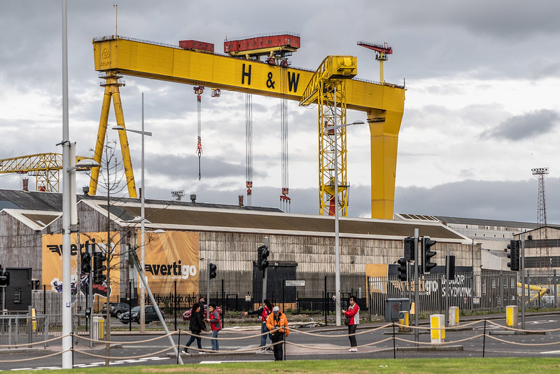 VIEWS OF SAMSON AND GOLIATH [THE FAMOUS CRANES AT THE HARLAND & WOLFF SHIPYARD IN BELFAST]-139994