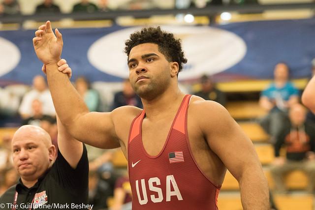 125 kg/275 lbs.- Gable Steveson (Minnesota Storm) vs. Gannon Gremmel (Cyclone RTC).  - 180519amk0236